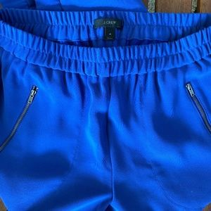 J.Crew, cropped polyester pants, size 4, blue